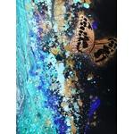 tableau art contemporain listen me cris femme tache peinture 2019