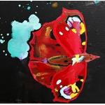 tableau art contemporain listen me cris femme tache peinture 2019 multicolore