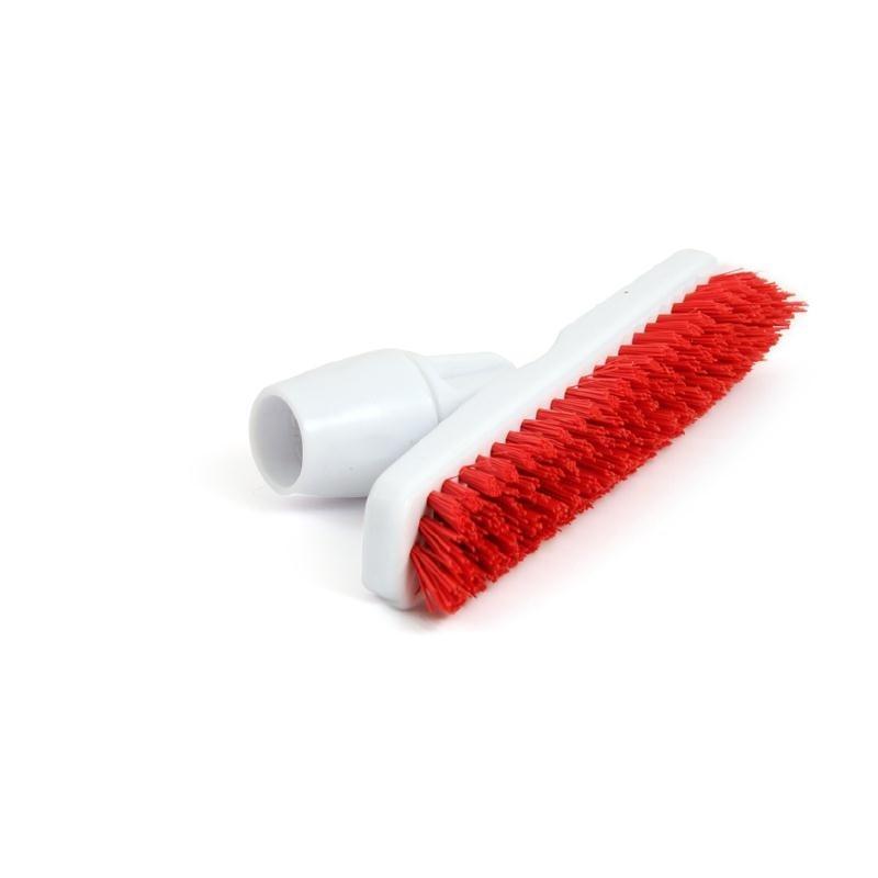 Balai brosse avec adaptateur coudé pour manche Jantex rouge