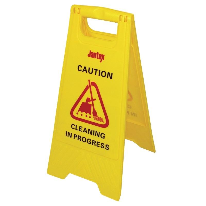 Panneau de sécurité nettoyage en cours Jantex
