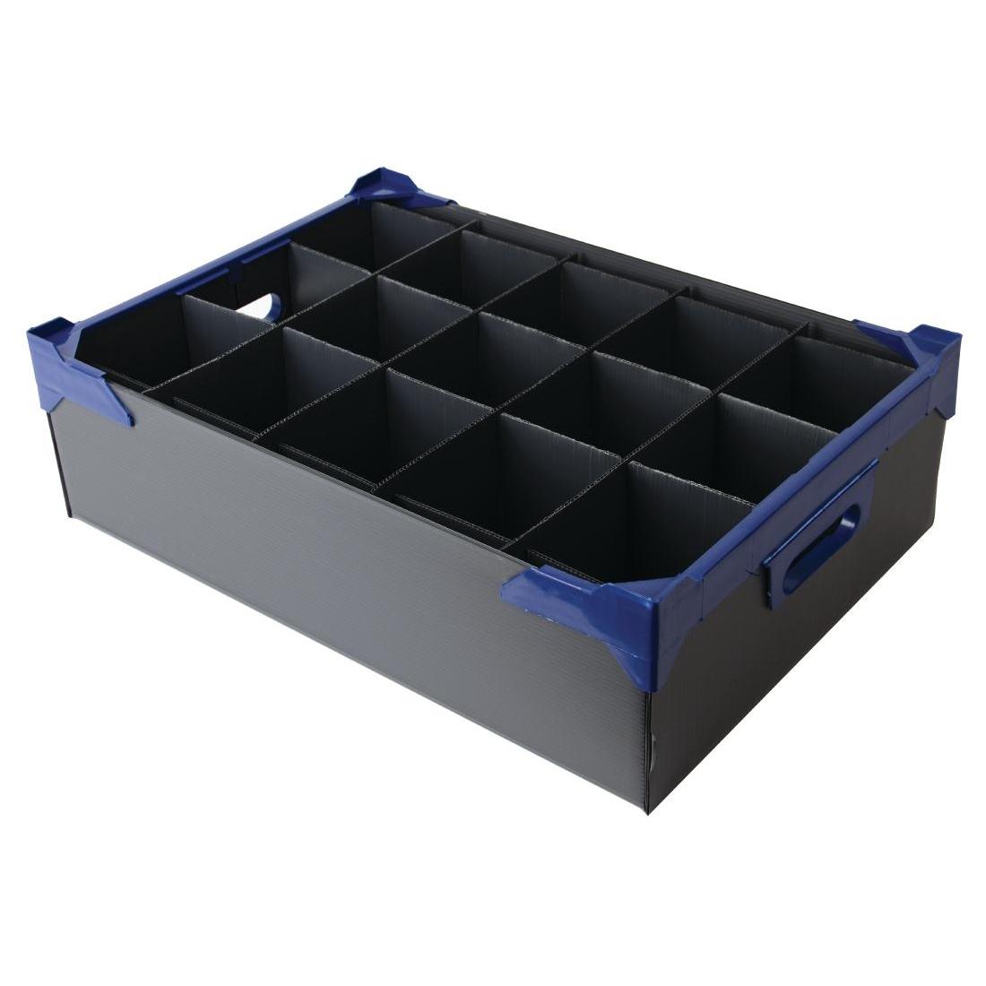 Casiers à verres 15 compartiments 140(H) x 500(L) x 340(P)mm par 5
