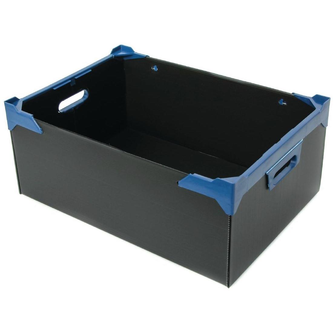 Casier à verres bleu 24 compartiments 140(H)x 510(L)x 347(P)mm. Vendus par 5