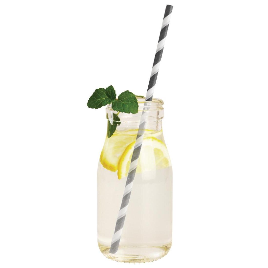 Mini bouteille de lait en verre pour cocktail 200ml par 12