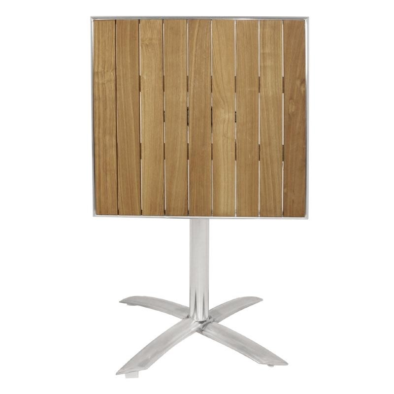Table bistro carrée plateau basculant frêne 600mm
