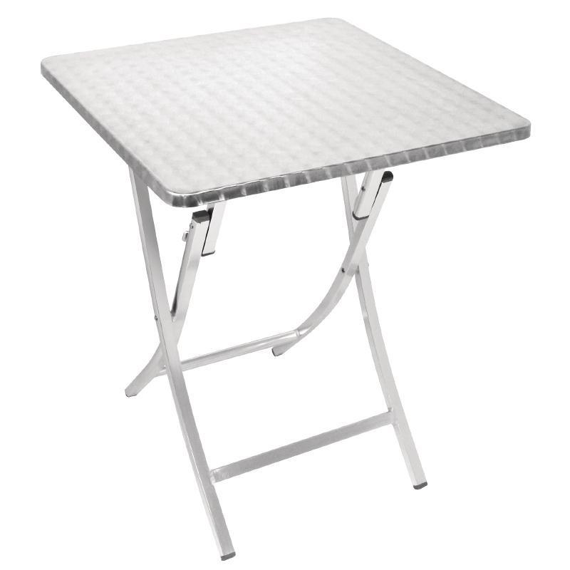 Table bistro carrée pliante aluminium 600mm