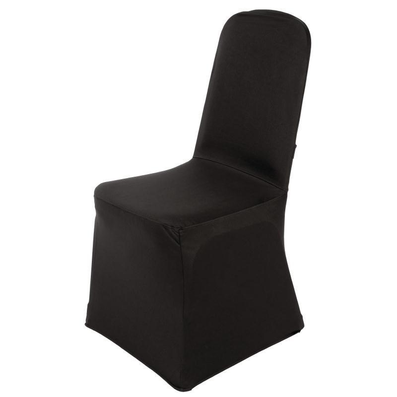 Housse de chaise de banquet Bolero noire