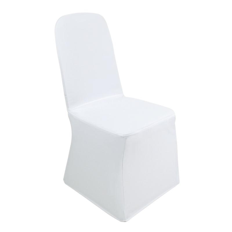 Housse de chaise de banquet blanche