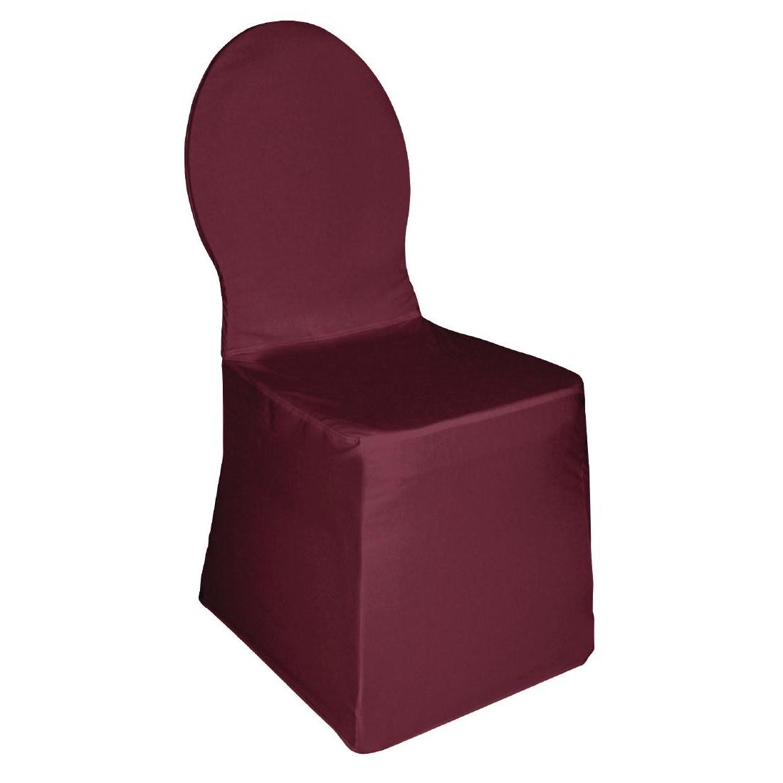 Housse de chaise de banquet en jersey bordeaux