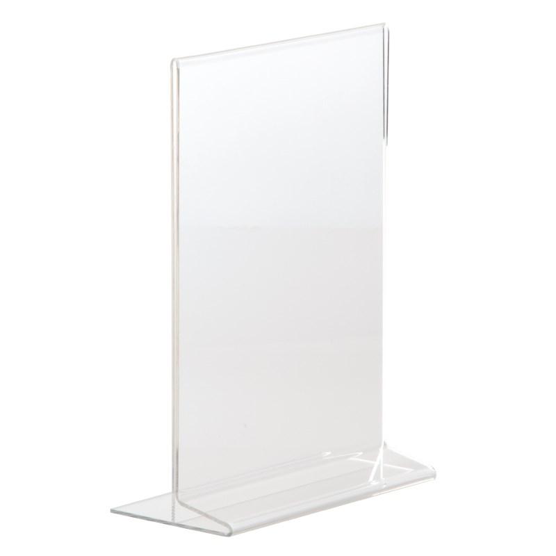 Protège-menus vertical en acrylique A4