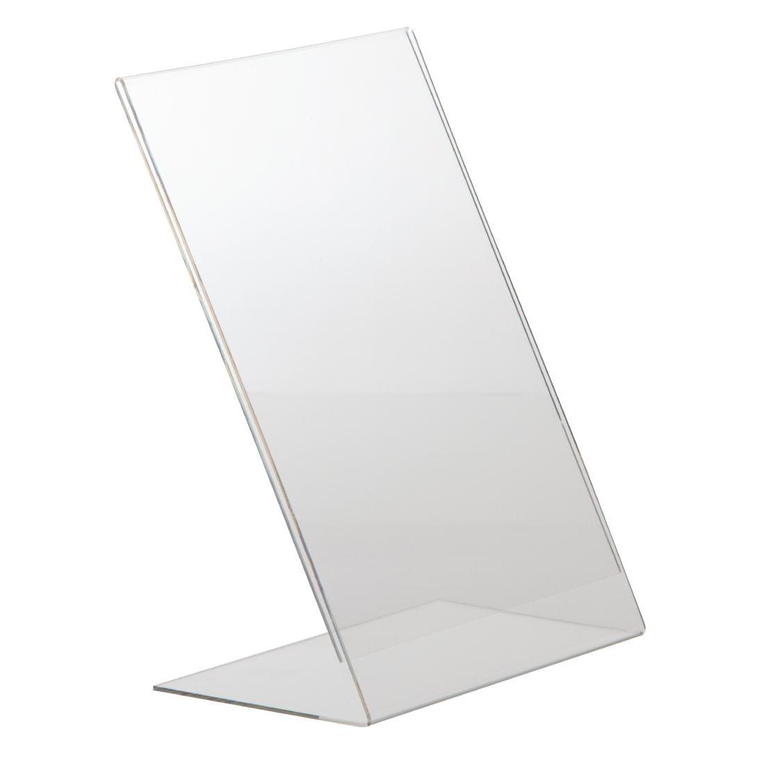 Protège-menus incliné en acrylique A4