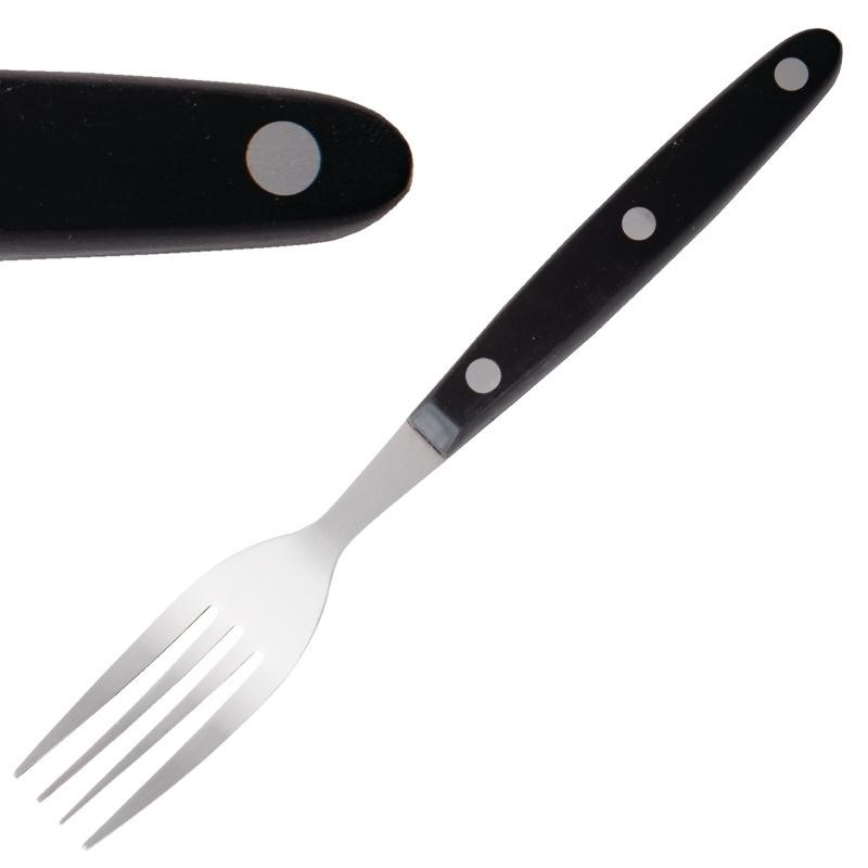 Fourchette à viande manche noir par 12