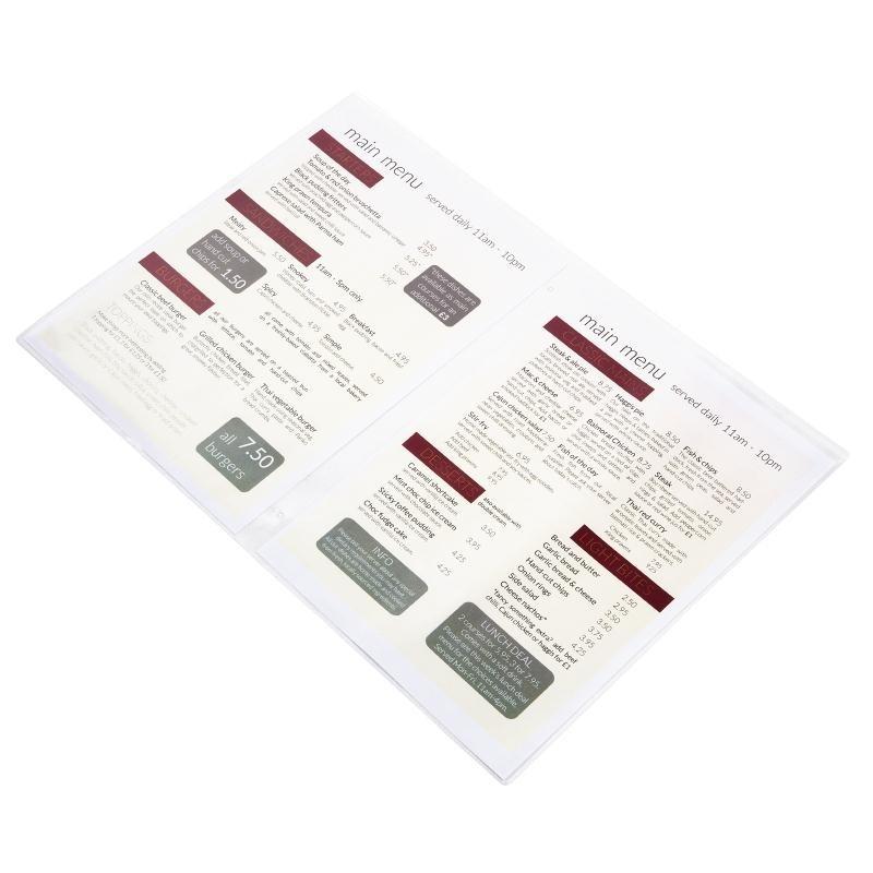 Inserts pour protège-menu tendance DAG A5 par 10