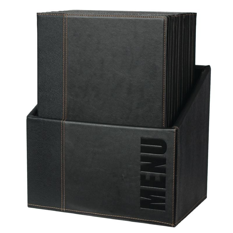 Coffret de protège-menus contemporains Securit A4
