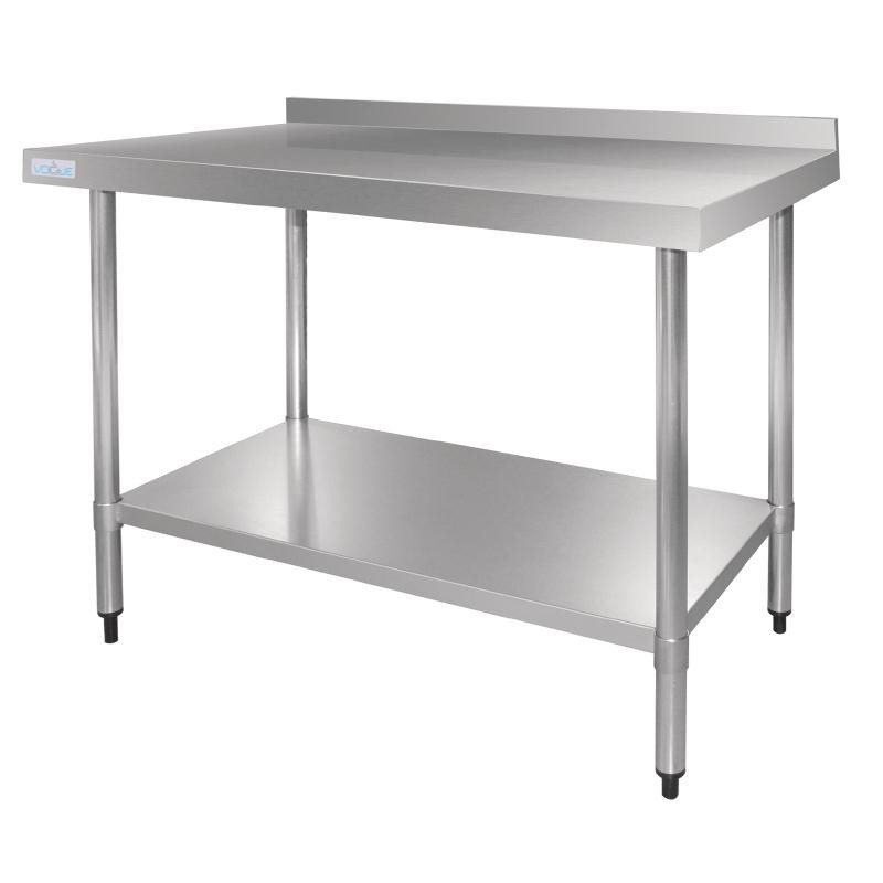 Table en acier inoxydable avec rebord 1200mm