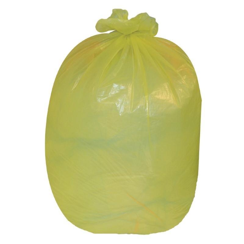 Sacs poubelle 80L jaunes par 200
