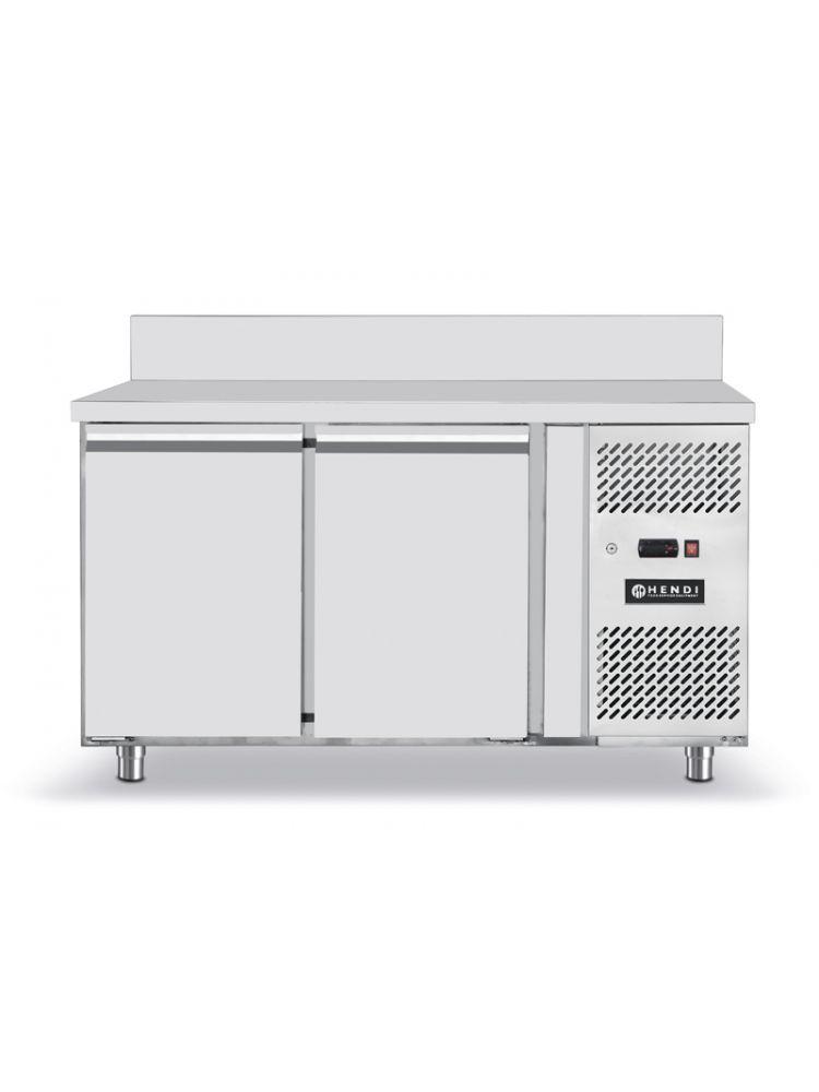 R frig rateur comptoir avec deux portes profi line inox 1360x700x h 850 r frig ration tables - Refrigerateur deux portes ...