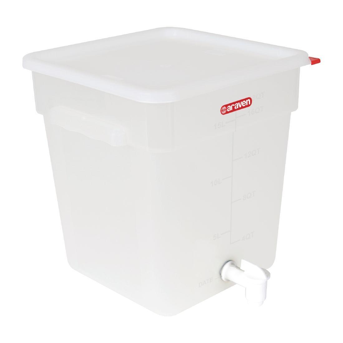 Conteneur robinet Araven 18L
