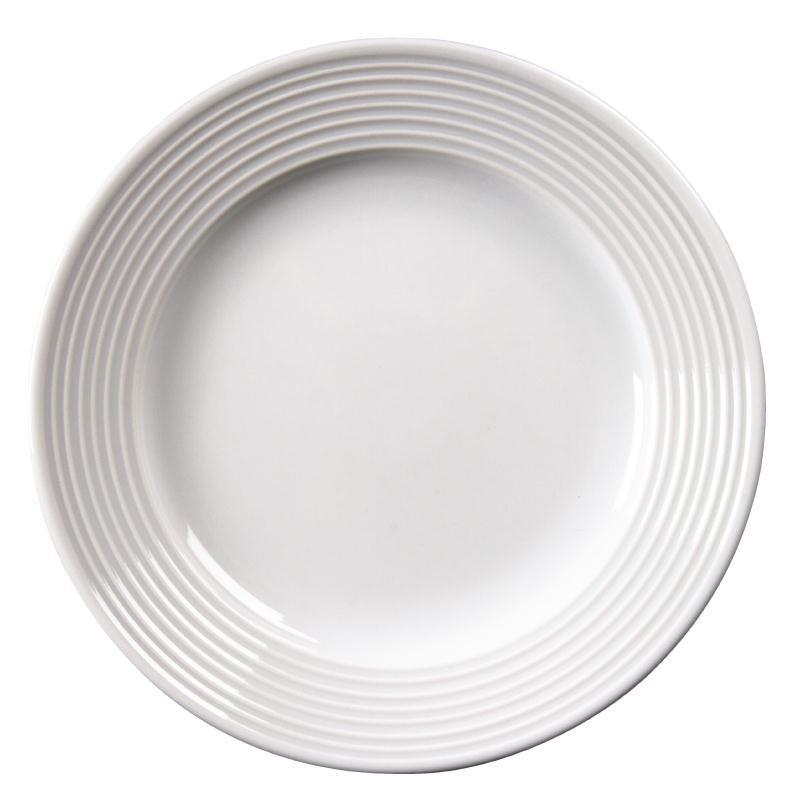Assiettes à bord large en porcelaine fine Linear 310(Ø)mm par 6