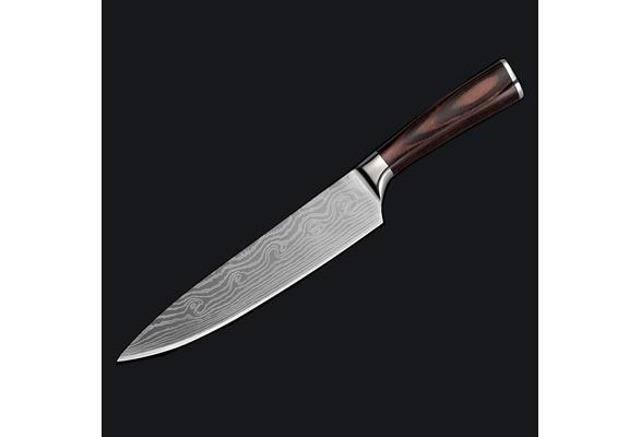 Couteau de Chef Japonais en acier inoxidable 7Cr17  manche en bois précieux