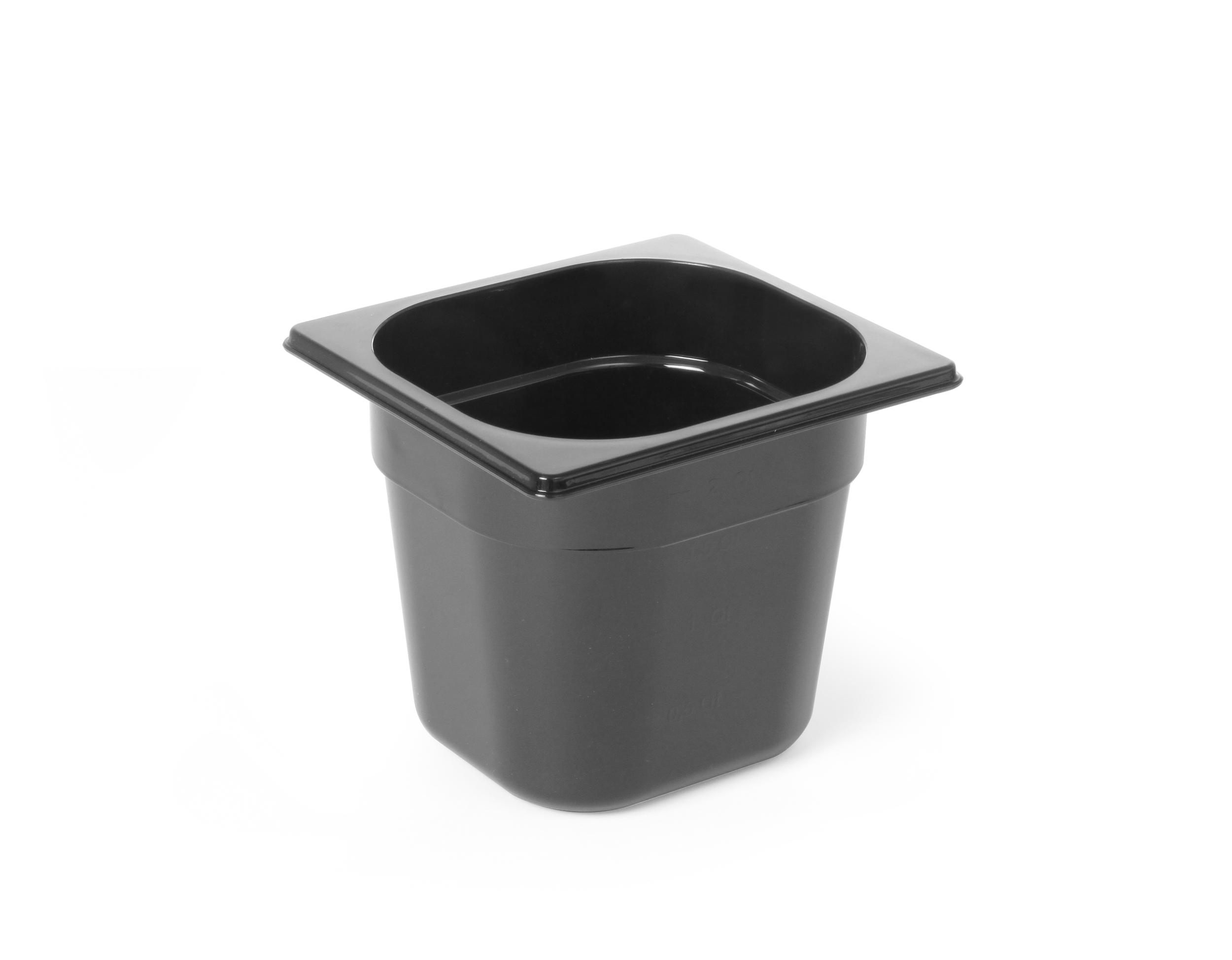 Polycarbonate noir un sixième 65mm gn 1/6