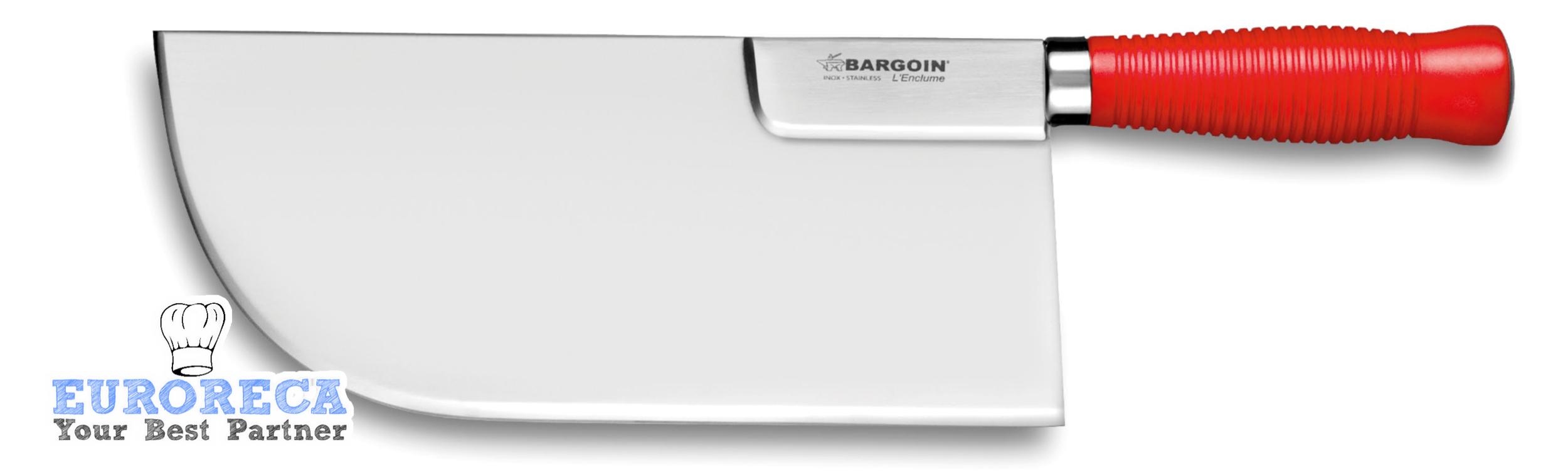Feuille de boucher renforcé dos droit 26cm manche rouge BARGOIN