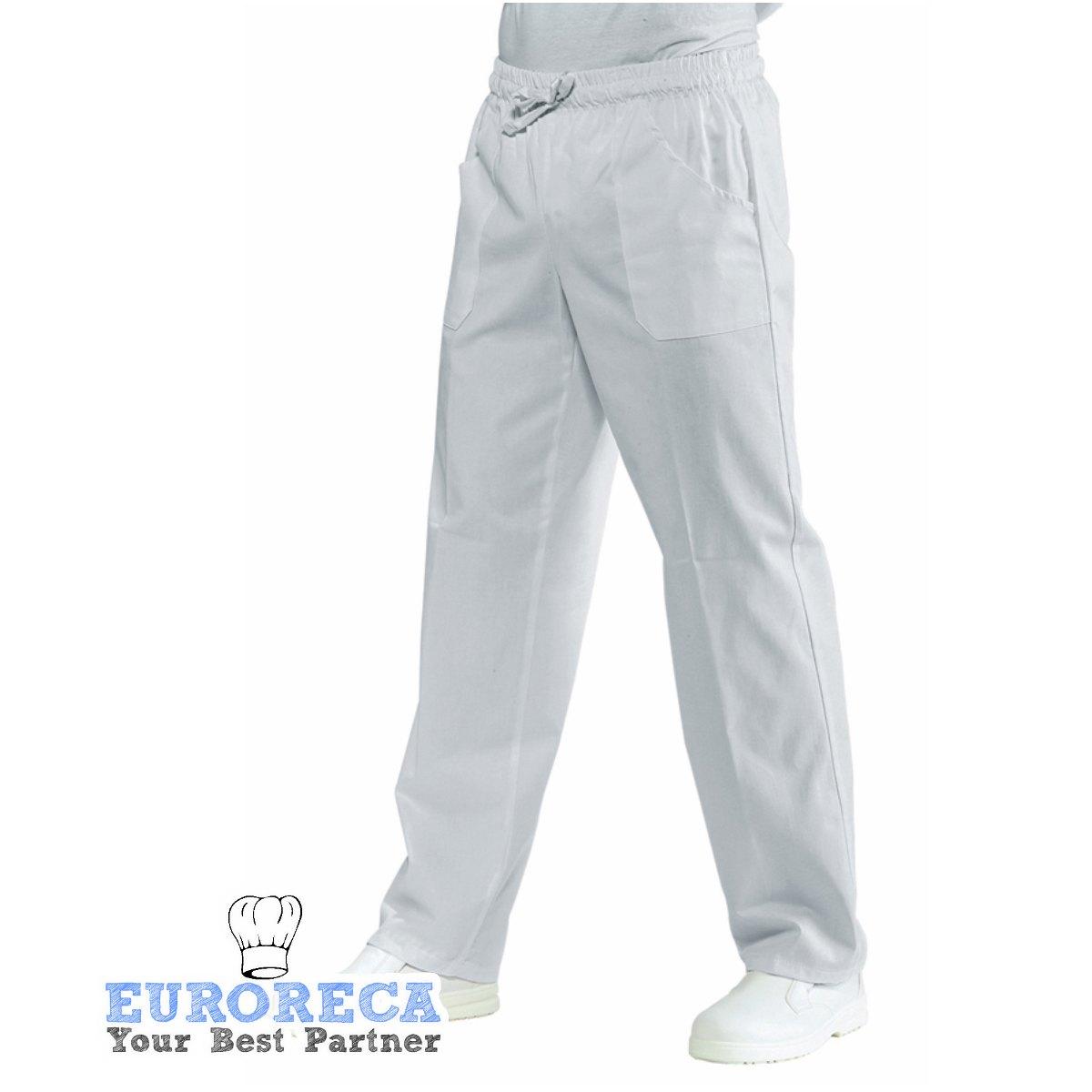 Pantalon Médical et agro alimentaire blanc Mixte à Taille Elastique