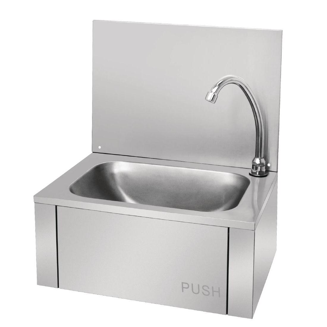 Lave-mains commande au genou inox