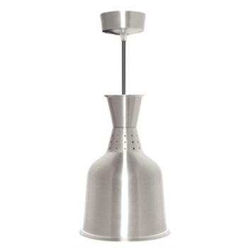 Lampe chauffante en aluminium argent