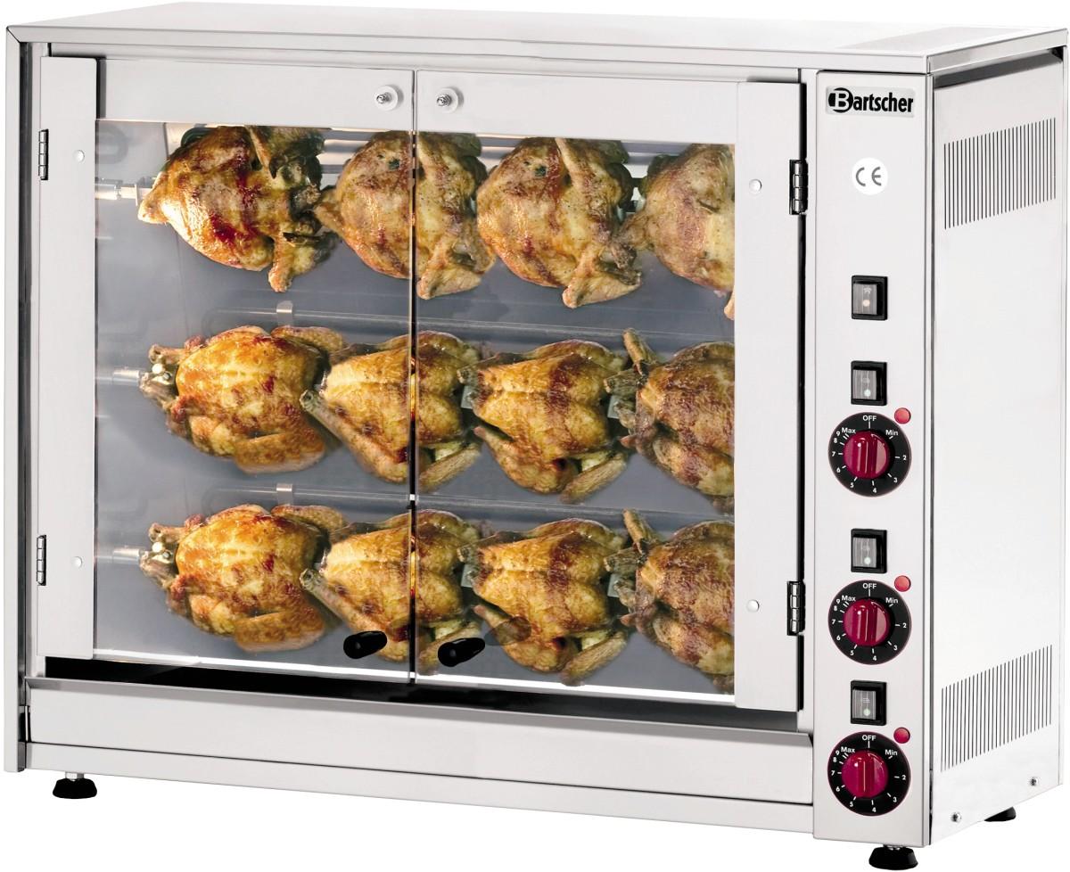 Rôtissoire électrique 3 broches 12 poulets