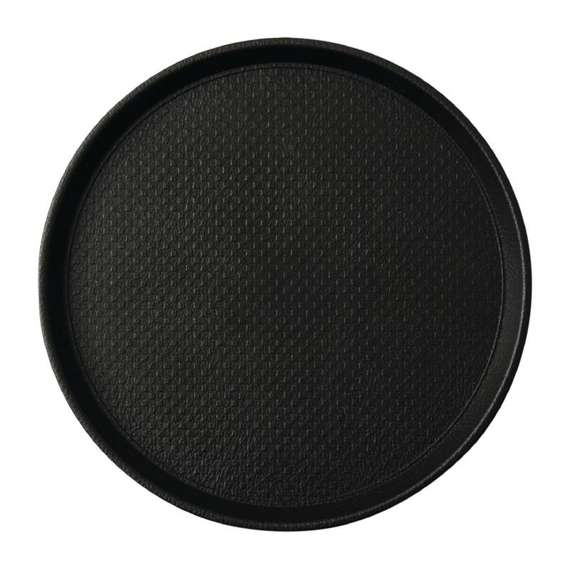 Plateau antidérapant Roltex Blackline rond 310mm noir