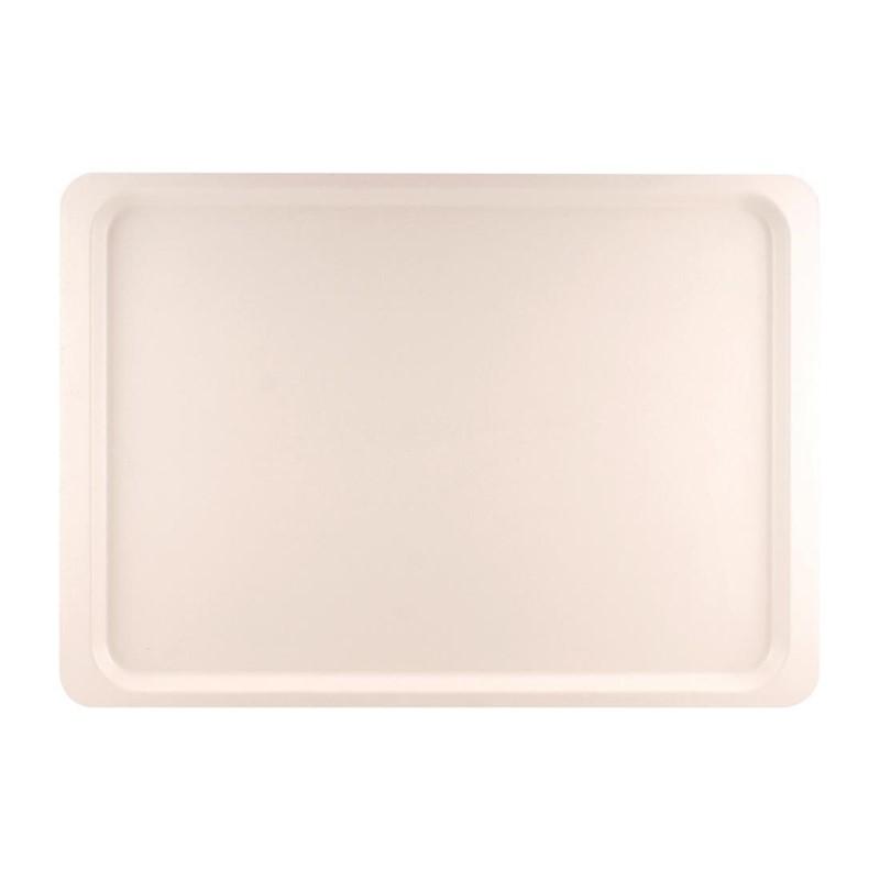 Plateau de service en polyester Roltex Euronorme 530 x 370mm blanc perle