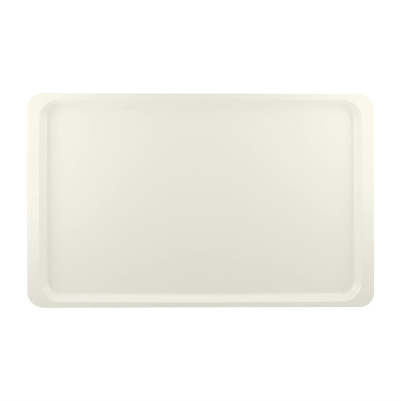 Plateau de service en polyester Roltex GN1/1 530x325mm blanc perle