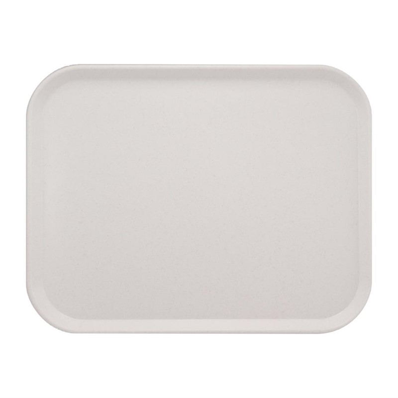 Plateau de service en polyester Roltex America 460x360mm gris moucheté