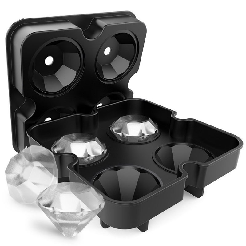 Plaque de 4 moules Diamant en Silicone Ice Cream Maker