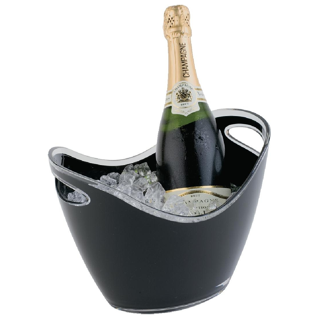 Seau à vin ou champagne APS noir 2 bouteilles