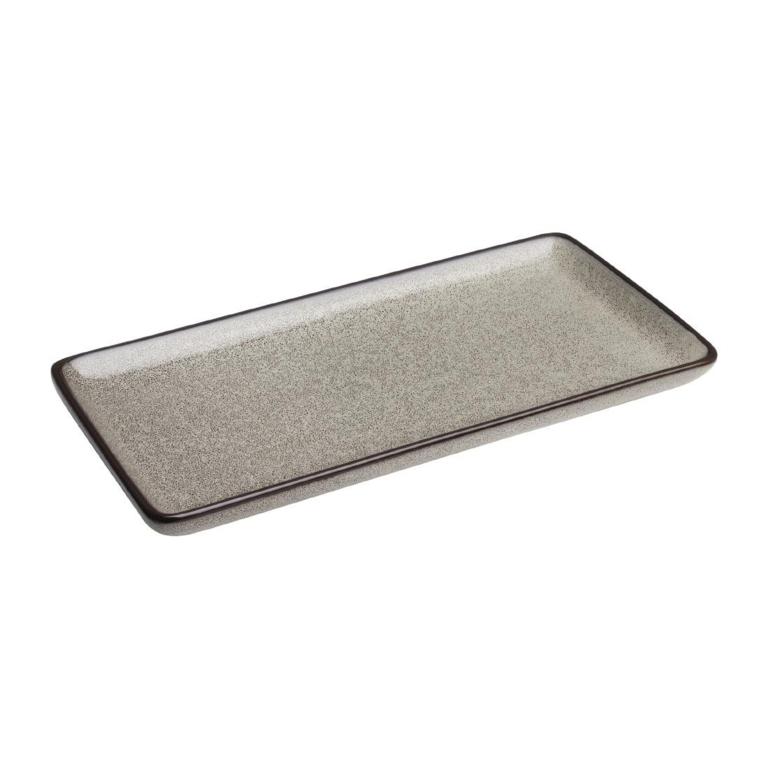 Assiettes rectangulaires Olympia Mineral 335mm par 4