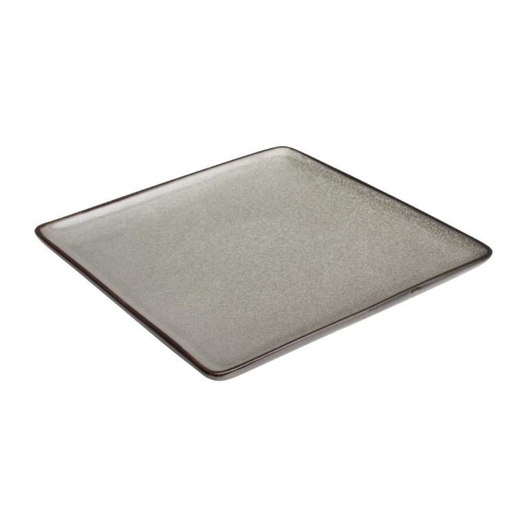Assiettes carrées Mineral 265mm par 4