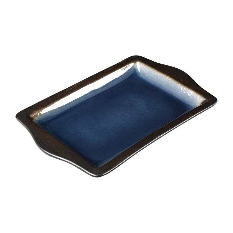 Plateaux à tapas rectangulaire Nomi bleu 283mm par 6