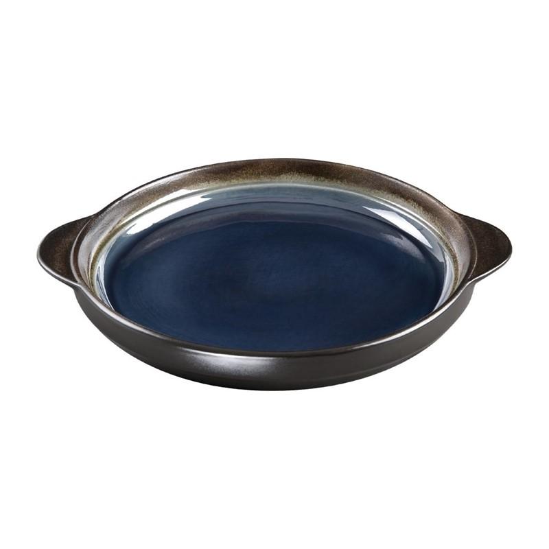 Plateaux à tapas ronds Nomi bleus 190mm par 6