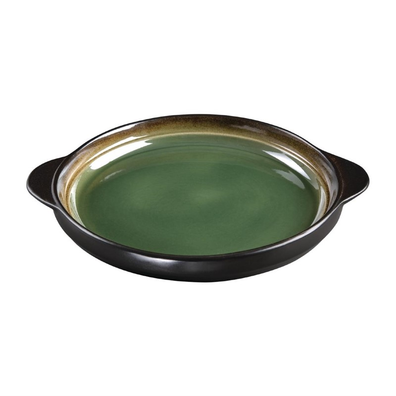Plateaux à tapas ronds Nomi verts 190mm par 6