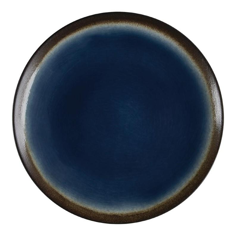 Assiettes à tapas rondes Nomi bleues 198mm par 6