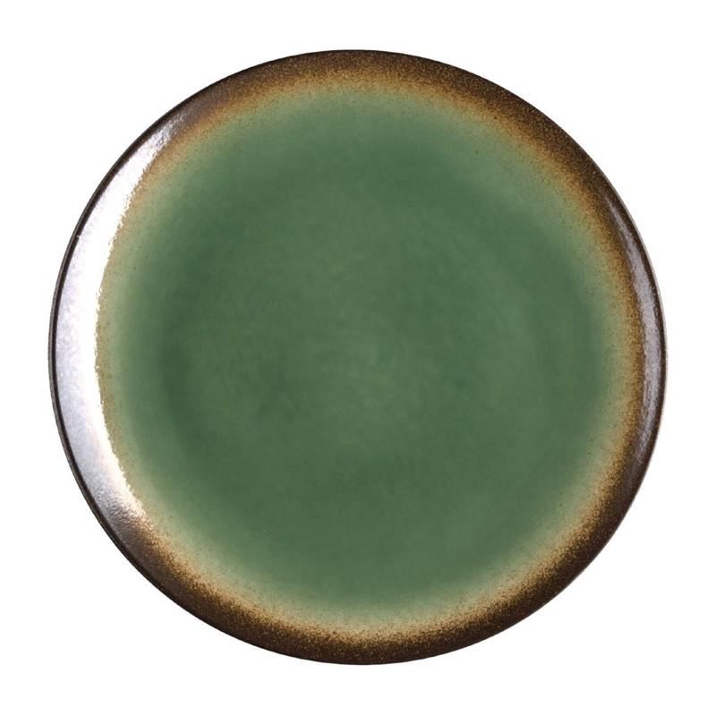 Assiettes à tapas rondes Nomi vertes 198mm par 6