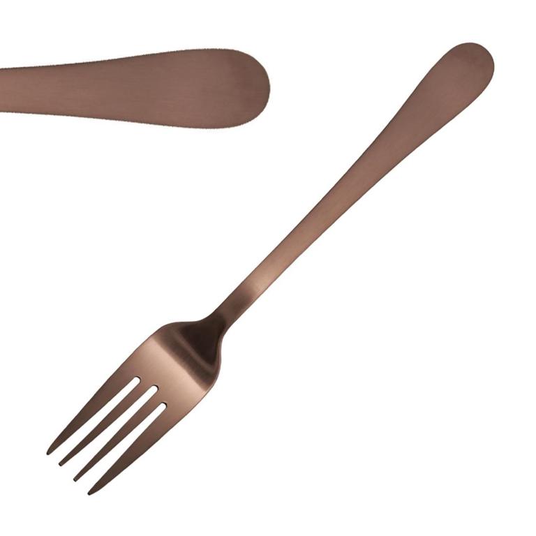 Fourchettes à dessert cuivre Olympia Cyprium