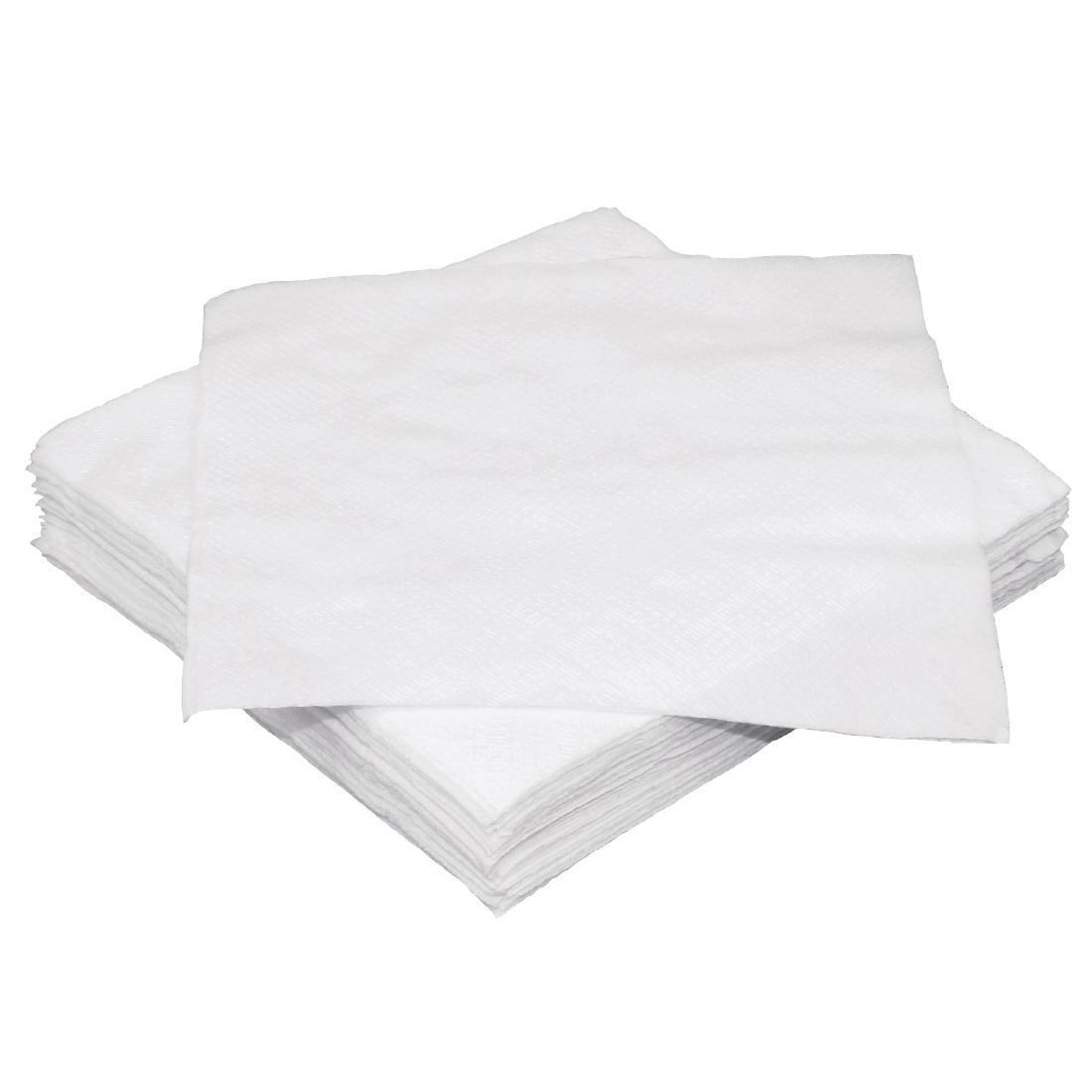 Serviettes cocktail 1 pli Fiesta blanches 250 x 250mm lot de 2000