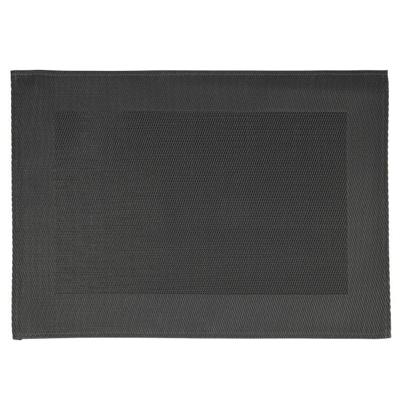 Set de table en PVC APS noir avec pourtour par 6