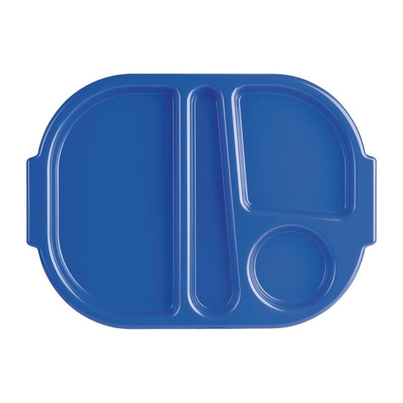 Plateaux repas à compartiments bleu 32 x 24 cm par 10