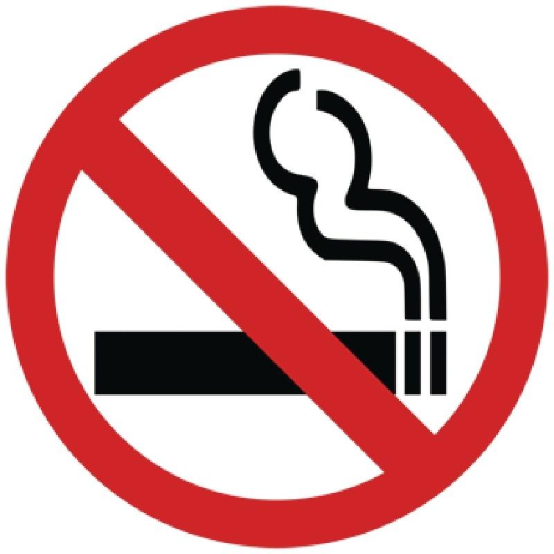 Panneau auto-adhésif non fumeur pour vitre