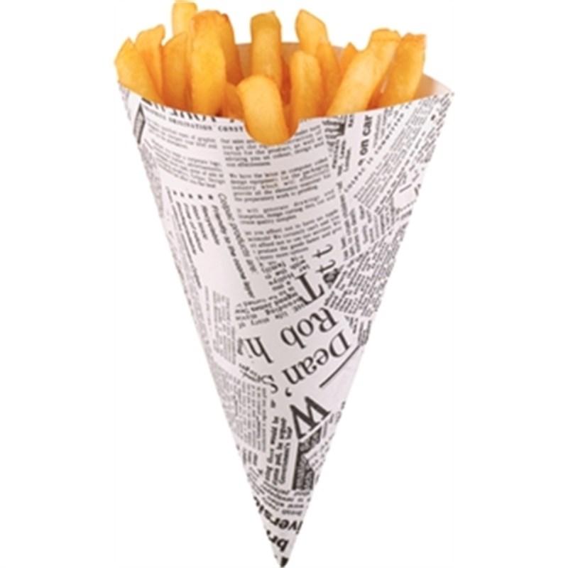 Cornets à frites jetables papier imprimé par 1000derniere boite à ce prix