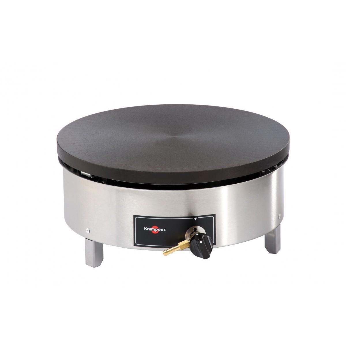 Crêpière gaz professionnelle sur bati CGBIM4 Ø 40 cm avec sécurité