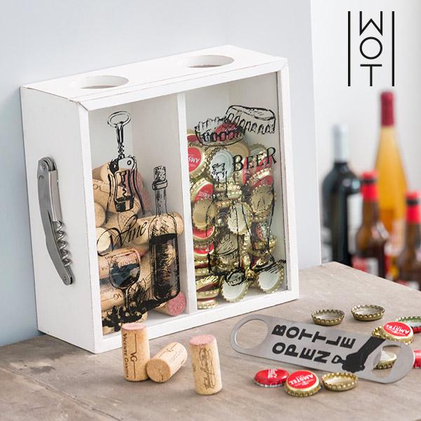 Boîte Décorative pour Bouchons Beer & Wine Wagon Trend